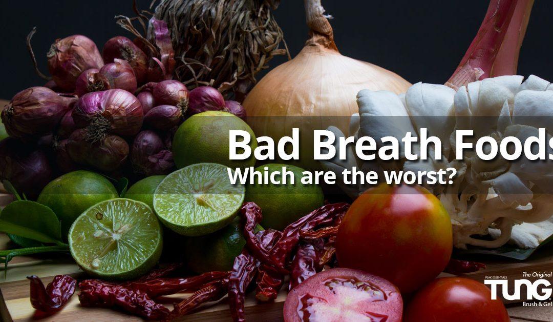 Bad breath foods